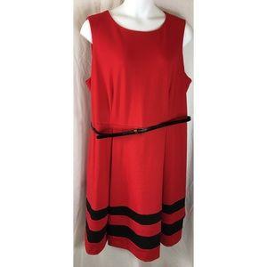 Calvin Klein Dress pleated sleeveless red  5035